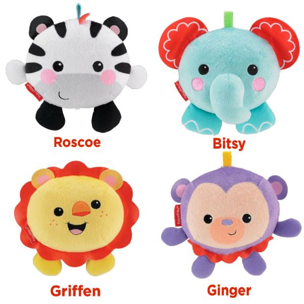 Fisher Price Giggle Gang Choose Either Roscoe, Bitsy, Griffen, Ginger Soft Toys